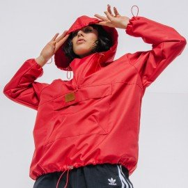 Softshell red hoodie